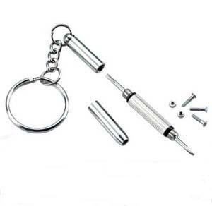 Eyeglass repair kit. Deluxe Key Chain, 3in1