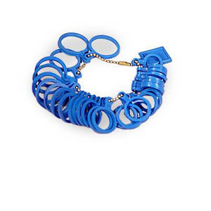 Ring finger sizer. Plastic. Sizes 1-13.