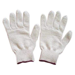 Gloves, knit. Cotton blend. Medium. 1 pair.