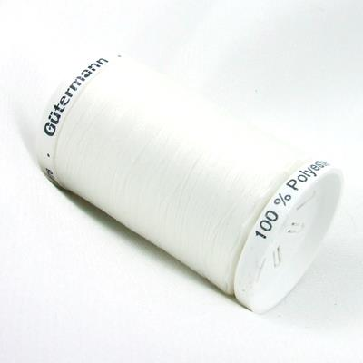 Gutermann thread, polyester. 500m. #20 white.