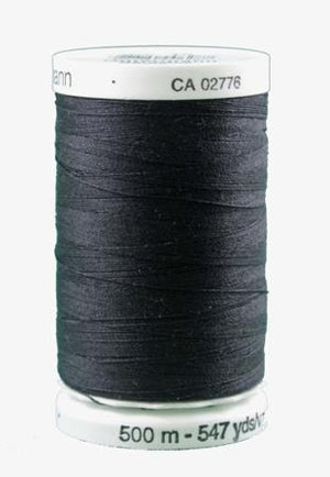 Gutermann thread, polyester. 500m. #10 Black.