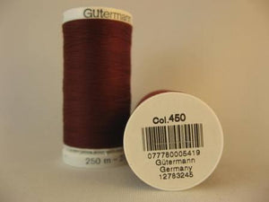 Gutermann thread, polyester. 250m. #450 wine.