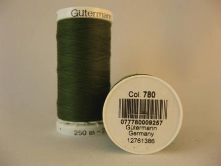 Gutermann thread, polyester. 250m. #780 army green.