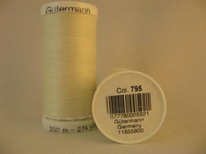Gutermann thread, polyester. 250m. #795 bone.