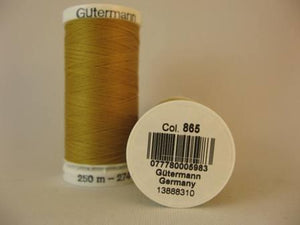 Gutermann thread, polyester. 250m. #865 straw.
