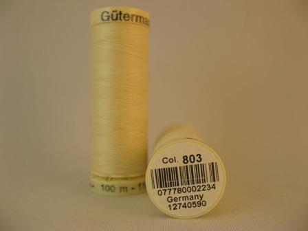 Gutermann Thread Polyester 100m #803 Cream