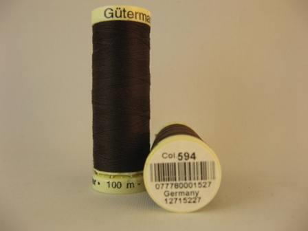 Gutermann thread, polyester. 100m. #594 dk. brown