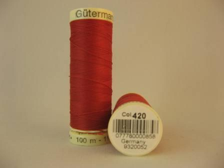 Gutermann thread, polyester. 100m. #420 Ruby Red