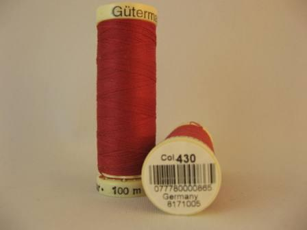 Gutermann thread, polyester. 100m. #430 raspberry.