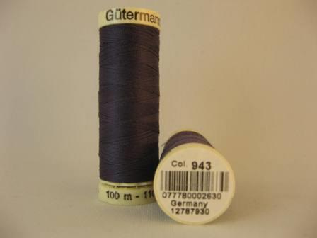 Gutermann thread polyester. 100m. #943 dk.purple.