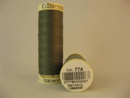 Gutermann thread, polyester. 100m. #774 moss green.