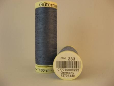 Gutermann thread, polyester. 100m. #233 periwrinkle blue.