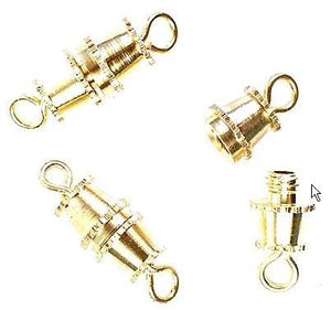 WOT findings. Barrel-clasp. Gold coloured. 12 pack.