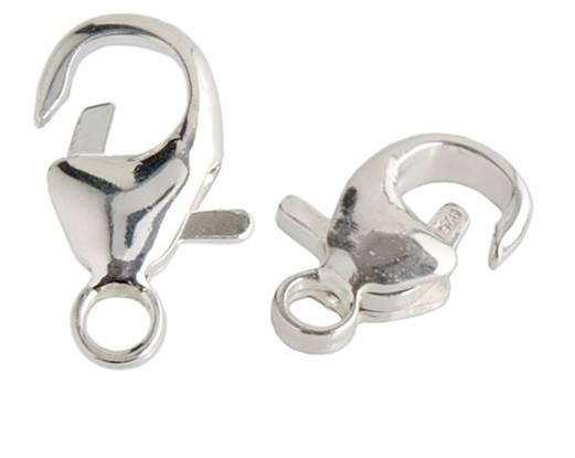 WOT findings. Lobster-clasp. Silver coloured. 12 pack.