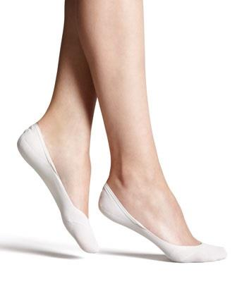 "Fab Design, ""invisible"" sockettes. One size. White. 1 pair."