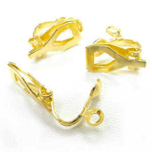 WOT findings. Earring-clasp-backings. Gold coloured. 12 pack.
