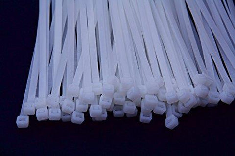 "14"" Cable Ties, 50 pack, White"