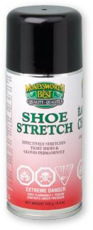 A 128g can of Moneysworth & Best aerosolized shoe stretch spray