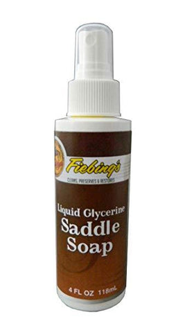 Fiebings saddle soap spray, 118 ml bottle.