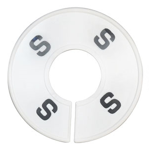 "Round Rack Divider Printed ""S"""