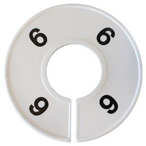 Divider, circle, (donut). '6'. White. Single.