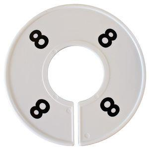 Divider, circle, (donut). '8'. White. Single.