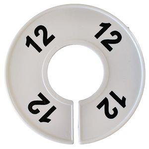 Divider, circle, (donut). '12'. White. Single.
