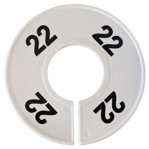 Divider, circle, (donut). '22'. White. Single.