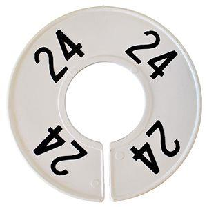 Divider, circle, (donut). '24'. White. Single.