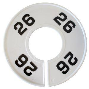 Divider, circle, (donut). '26'. White. Single.