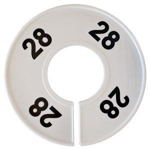 Divider, circle, (donut). '28'. White. Single.