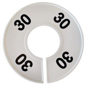 Divider, circle, (donut). '30'. White. Single.