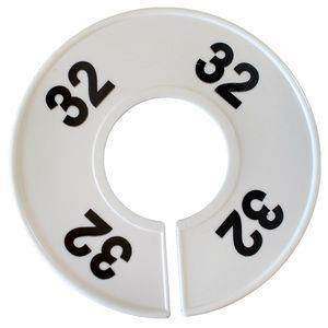 Divider, circle, (donut). '32'. White. Single.