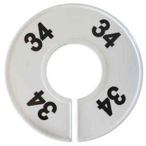 Divider, circle, (donut). '34'. White. Single.