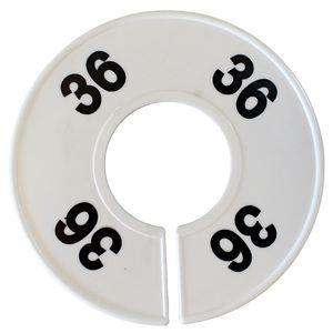 Divider, circle, (donut). '36'. White. Single.