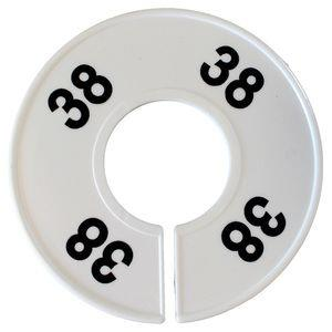 Divider donuts. White with '38'. Single.