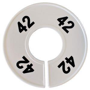 Divider, circle, (donut). '42'. White. Single.