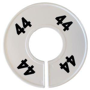 Divider, circle, (donut ). '44'. White. Single.