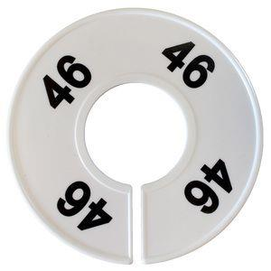 Divider, circle, (donut). '46'. White. Single.