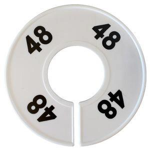 Divider, circle, (donut). '48'. White. Single.