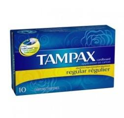 Box of 10 Tampax Regular, Unscented Tampons