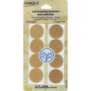 Unique, Velcro, Self Adhesive Dots, Beige, 8 pack