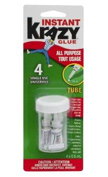 Krazy Glue instant precision. 4 single-use tubes.