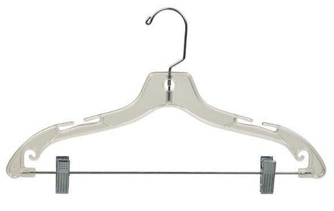 Hangers. Ladies, suit, (combo). Clear/crystal plastic. 20 pack.