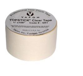 "Topstick tape, double sided, roll, 1"" x 108""."