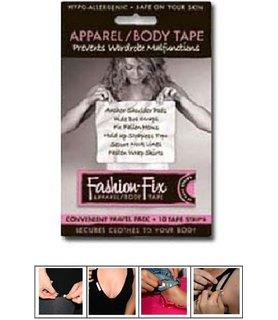 "Fashion Fix tape. Travel pack, 10 double sided strips, 1"" x 3-1/4""."