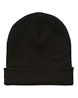 Ganka hat. Watchman cap. One size. Black.
