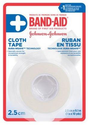 Johnson & Johnson first aid cloth tape.