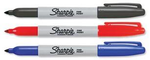 Sharpie Markers - Black, Red, Blue 3 Pack