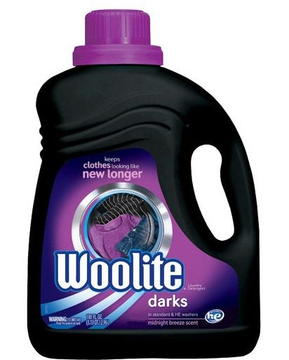 Woolite zero gentle wash liquid. For darks. 75 loads.